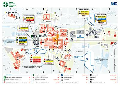 Cartina Ospedale Careggi Firenze.Cartina Dell Area Ospedaliera