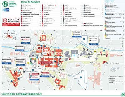 Cartina Di Firenze Centro Da Stampare.Cartina Dell Area Ospedaliera
